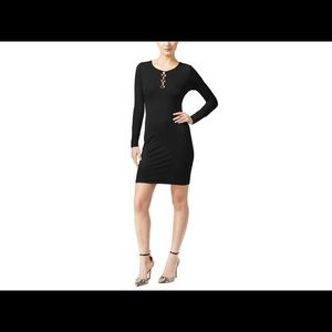Guess Addison Lace Up Bodycon Dress Black